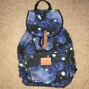 PINK Victoria's Secret Galaxy Canvas Backpack Tote